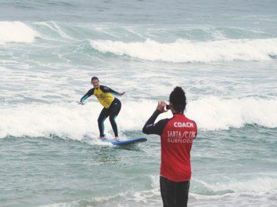 surfkurse mit videounterstützung portugal surfschule
