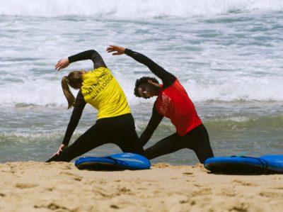 vorbereitung vor dem surfkurs portugal surfstunden