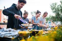 surfcamp portugal reichhaltiges Abendbuffet