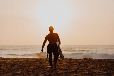sonnenuntergang surfen session portugal