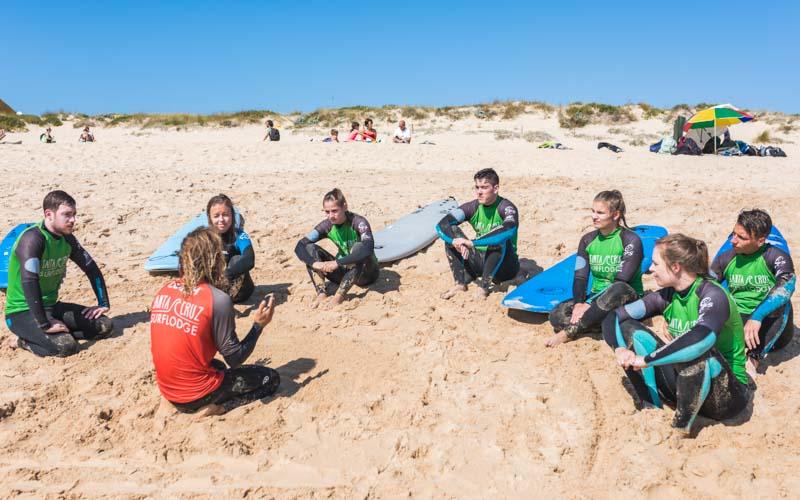 anfränger aufsteiger surfer strand